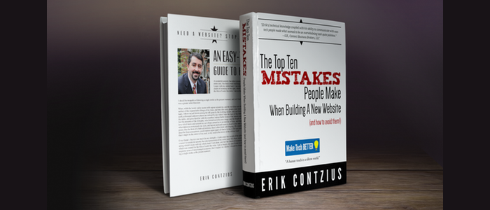 A new free e-book from Make Tech Better–The Top 10 Mistakes People Make When Building a Website (and how to avoid them!)