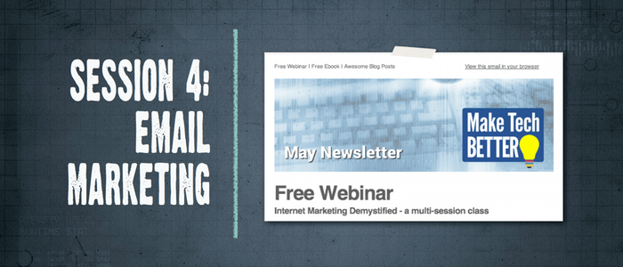 Internet Marketing Demystified 4 – All about Email